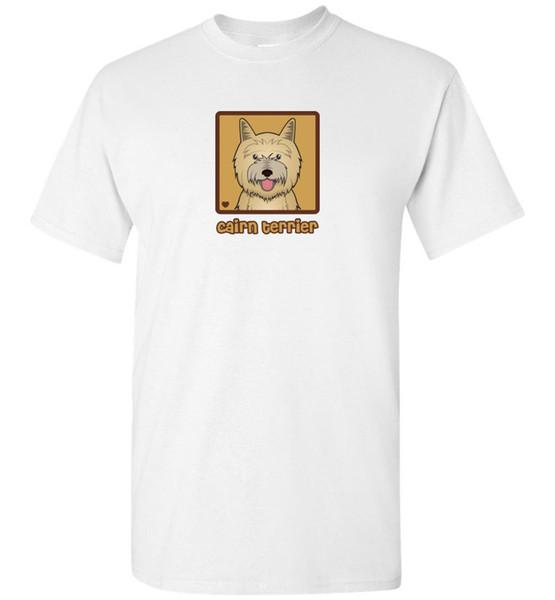 Cairn Terrier Karikatür T-Shirt Tee - Erkekler, Kadınlar, Gençlik, Tank, Kısa, Uzun Kollu