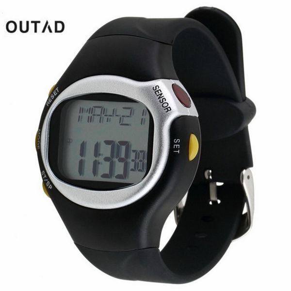 Orologio sportivo da uomo Saat Black Pulse Monitoraggio della frequenza cardiaca Contatore di calorie 1pcs Contacalorie Orologio da polso Sensore digitale Orologio
