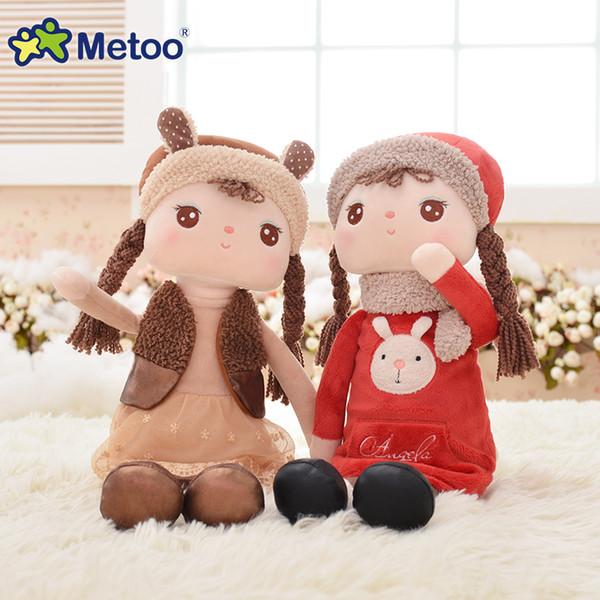41 cm Kawaii Plüsch Stofftier Cartoon Kinder Spielzeug für Mädchen Kinder Baby Geburtstag Weihnachtsgeschenk Angela Kaninchen Mädchen Metoo Puppe