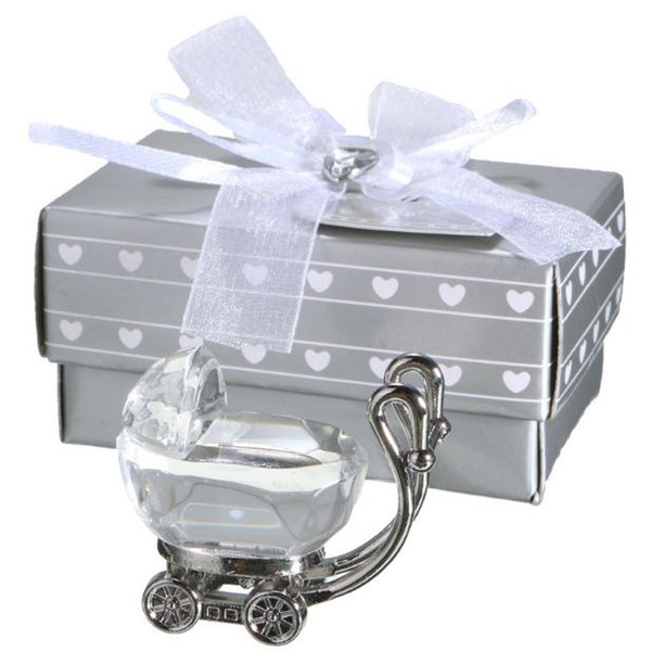 Chic Crystal Favors Baby Carriage Party Favors Gifts for Wedding Baby Shower Supplies Free Shipping SN995