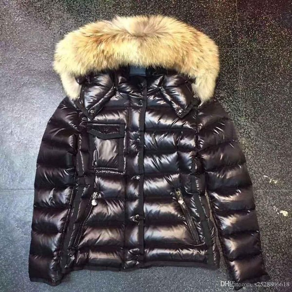 best selling Women Winter Jacket Ladies Real Raccoon Fur Collar Duck Down Inside Warm Coat Femme With All The Tag And Label 95