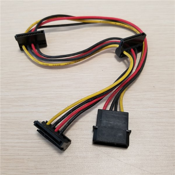 10pcs/lot 4Pin IDE Molex to 3-Port SATA Power Extension Cable 18AWG for Hard Drive HDD SSD PC Server DIY 40cm