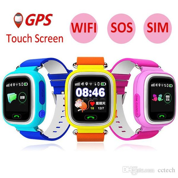 Q90 GPS Child Smart Watch Phone Position Children Watch 1.22inch Color Touch Screen WIFI SOS Smart Baby Watch PK Q80 Q50 Q60
