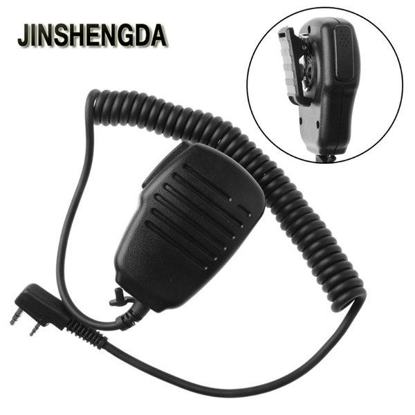Microphone 2-Pin PTT Speaker Microphone Mic For BAOFENG UV-5R RETEVIS H777 Radio Walkie Talkie dropshipping