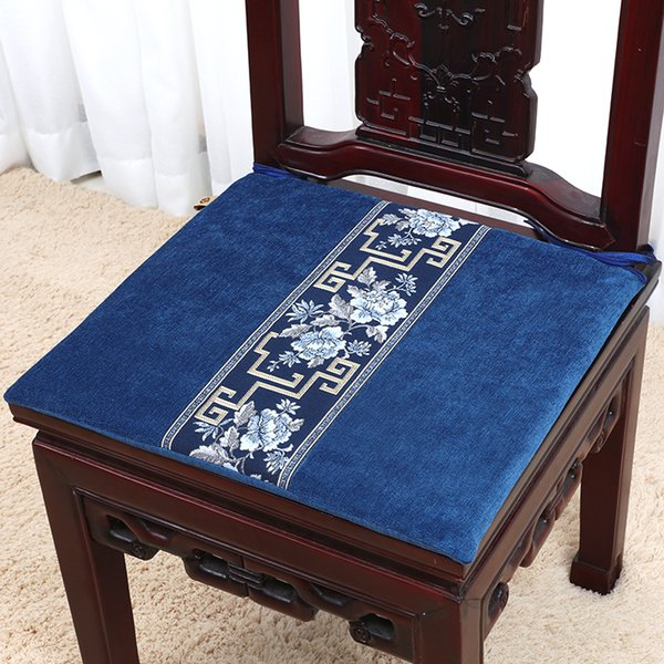 High End Velvet Fabric Lace Seat Cushion for Chair Sofa Pad Classic Luxury Dining Chair round-backed armchair Decorative Seat Cushions