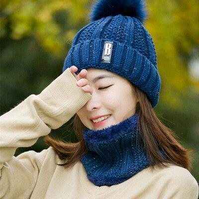 navy Hat and Scarf