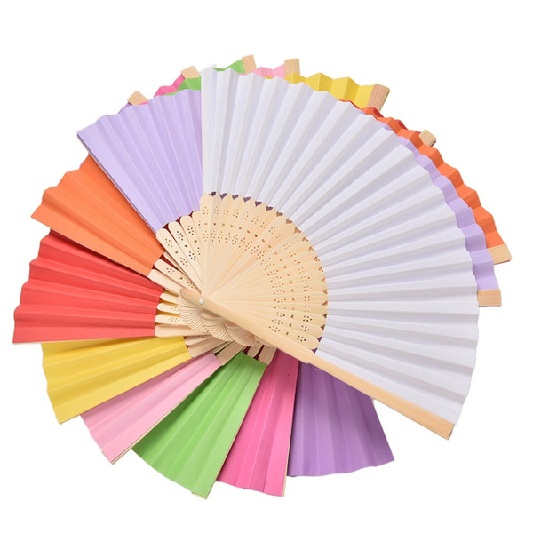 Chinese Style Luxurious Paper Fold hand Fan in Elegant Laser Cut Gift Party Favors/wedding Gifts 10pcs