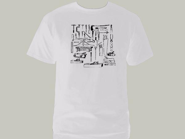 Carpintero trabajador de madera herramientas carpintero manitas blanco gráfico nueva camiseta Divertido envío gratis Unisex Casual camiseta de regalo