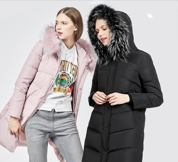 Women Winter Coats Fashion Middle Length Duck Down Jackets Top Quality Women Clothes Winter Accessories In Stock