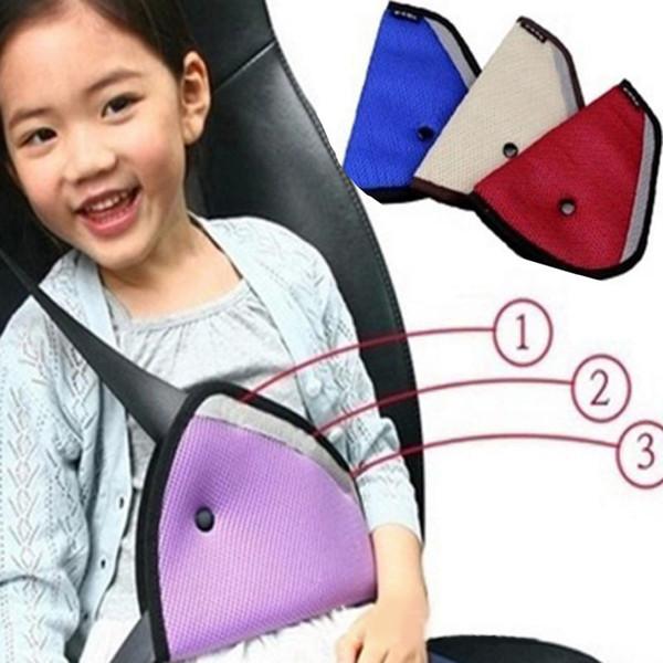 top popular hildren Car Seat Belt Holder Child Regulator Mesh Triangle Safety Restraint Baby Car Safety Seat Belts Adjuster Clip Accessories GGA139 2021
