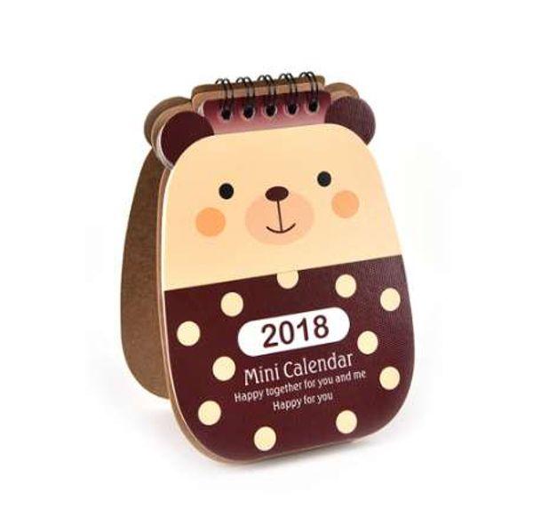 best selling Hot New Lovely Animal Mini Desktop Paper Calendar Daily List Scheduler Table Planner Yearly Agenda Organizer