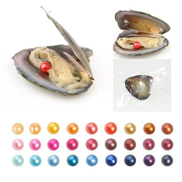 best selling 2019 New Freshwater Pearl Oyster Natural Round Loose Pearl 6-7 mm DIY Gift Decorations Vacuum Packaging Wholesale Free Shipping