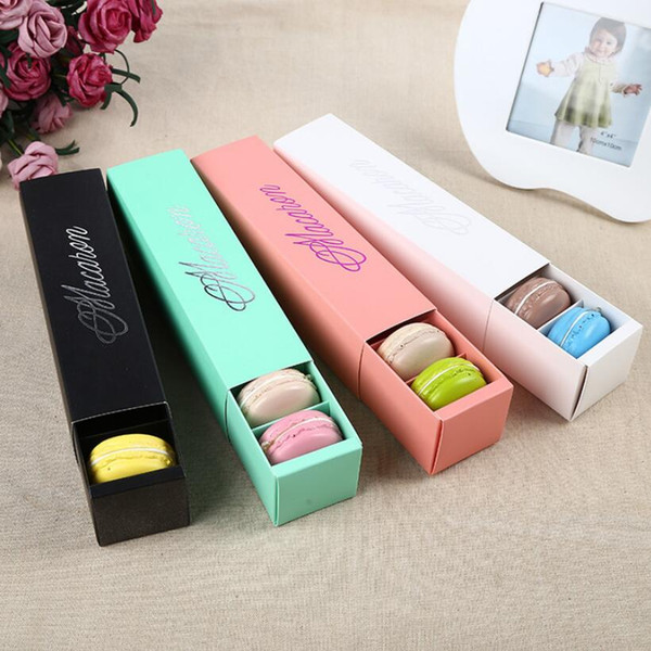 top popular 6 Colors Macaron packaging wedding candy favors gift Laser Paper boxes 6 grids Chocolates Box cookie box 2019