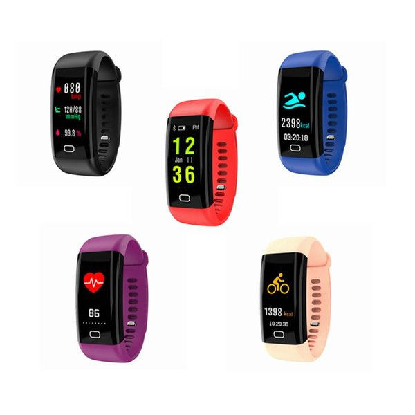 Waterproof Smart Bracelet Watch Heart Rate Monitor Blood Pressure Fitness Tracker Smart Band Sport Watch for IOS Android or IOS
