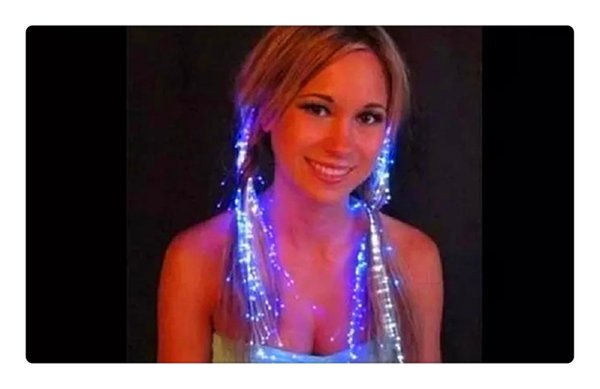 Luminous Light Up LED Hair Extension Flash Braid Party girl Hair Glow by fiber optic For Party Christmas Halloween Hair Clip Night Lights