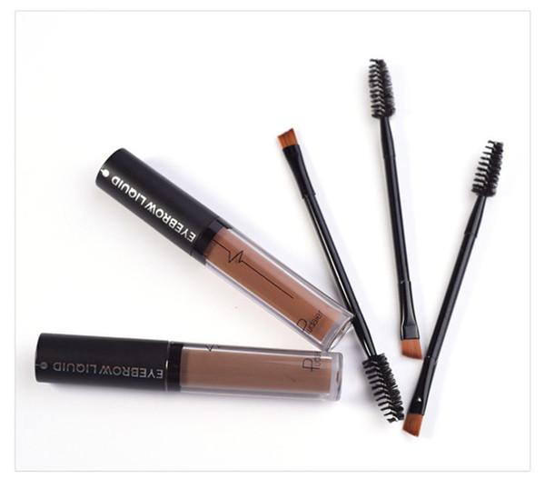 Hot Pudaier Eye Brow Tattoo Marca Cosméticos Duraderos Pigmentos Negro Marrón Impermeable Cejas Líquido Maquillaje con Pincel 1230003