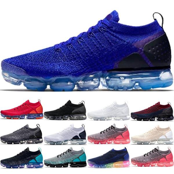 2018 hommes designer chaussures femmes chaussures de course 2.0 coussin d'air noir blanc en plein air formateurs sport athlétique baskets 36-45