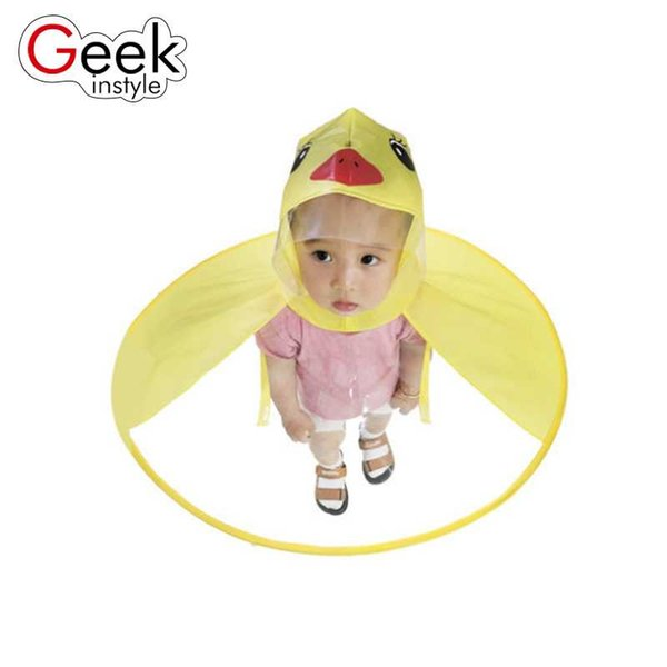 Geekinstyle Boy and girl Creative Poncho Children's Raincoat UFO Rain Coat Cover Funny Baby Outdoor Play Supplies