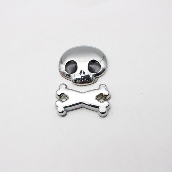 1Pcs Cool 3D Black Rear Front Roof Fender Hood Skull Demon Bone Badge Emblem Metal Sticker For Car Styling