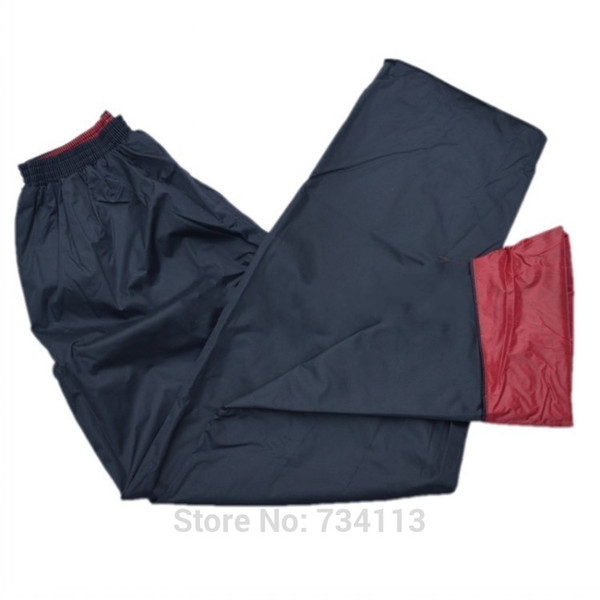 Double layer rain pants electric bicycle motorcycle split raincoat trousers dimond plaid thickening windproof rainproof
