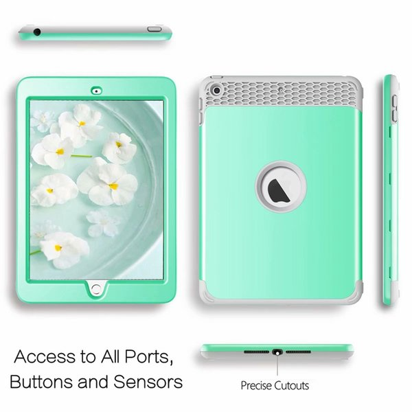Shockproof Defender Case For Apple iPad Mini 1 2 3, 4,Ipad 2 3 4, ipad 9.7 2017 2018 ipad Pro 10.5 Hard PC+Soft TPU Hybrid Heavy Robot Cover