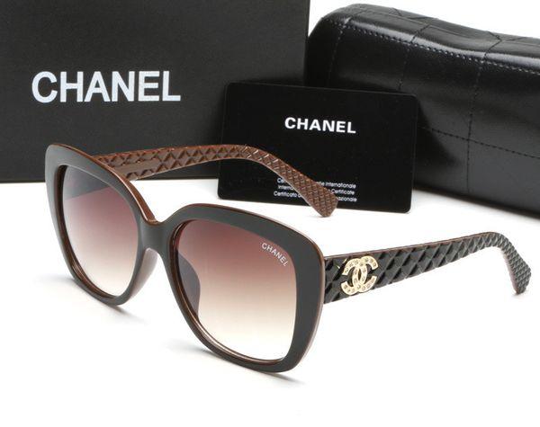 Moda occhiali da sole nuovi di marca francese per le donne signora grande cornice quadrata 91 73 occhiali da sole occhiali classici di guida dello shopping occhiali a specchio
