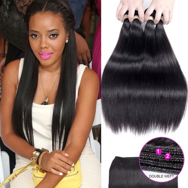 Beau Diva brazilian virgin hair bundles with closures 100% Human Hair Weaves 4 Bundles Free Shipping human hair clip in extensions