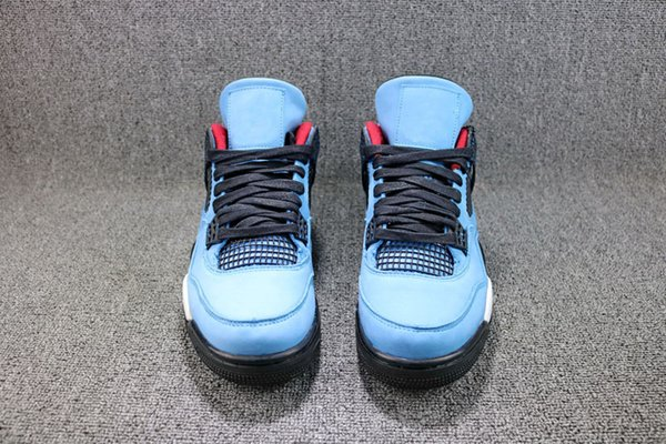 2018 Hottest Travis Cactus Houston Running shoes professional Basketball Shoes Men Authentic Blue Suede With Original Box Sports 308497-406