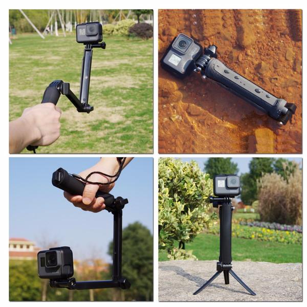 wholesale 3 Way Waterproof Monopod Selfie Grip Tripod Mount For Gopro Hero 5 4 Session 3 SJ4000 Xiaomi Yi 4K Sport Action Camera