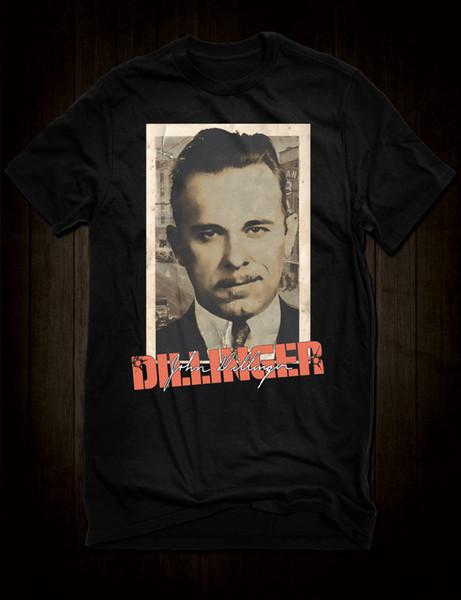 New Black John Dillinger Inimigo Público Número Um Gangster T-Shirt Assinatura Tee Engraçado frete grátis Unisex tee