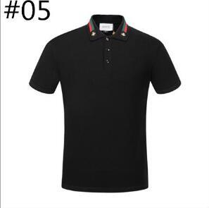 2018 Luxury Brand Boutique Embroidery Breathable 100% Cotton Polo Shirt Lapel Men's Air Force One Leisure Business Polo Shirt Size M-3XL