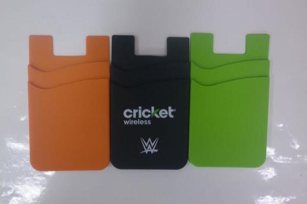 Handy Folie Kleben Großhandelsfarben Logo Siebdruck Silikon Handy Brieftasche Tasche Silikon Gummi Business Kredit Telefon Kartenhalter Für Iphone Xs