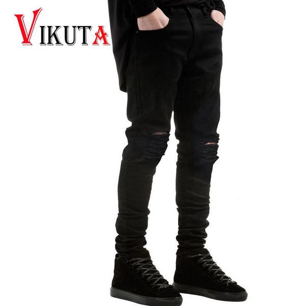 Satın Al Toptan Erkek Yıkanmış Denim Jeans Ince Serin Slim Fit Hi