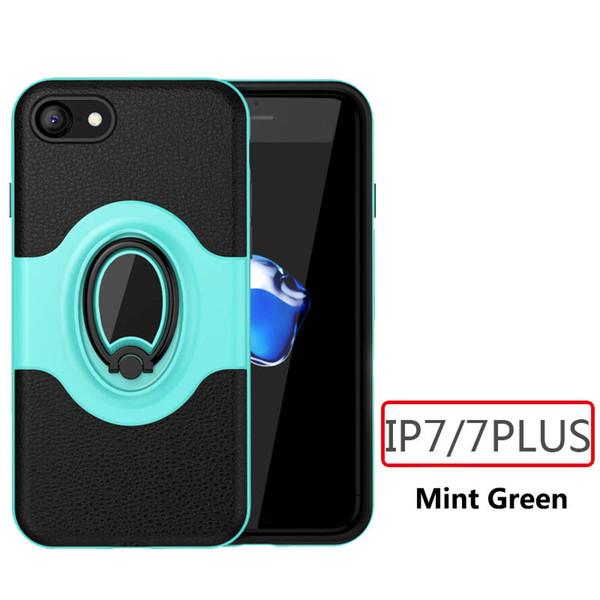 Coque téléphone pour iPhone 7/8 / 7plus / 8plus PC et TPU Stents Kickstand Car magnet Ring