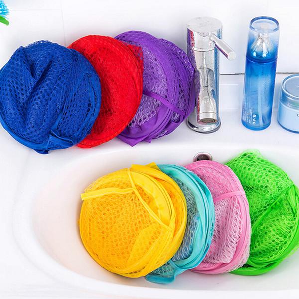 Foldable Washing Clothes Laundry Basket Pop Up Easy Open Bag Hamper Mesh Storage For College Dorm JJ04