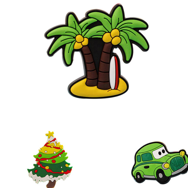Creative car Coconut Palm Christmas design fridge Magnets for kids Small Size Silicon Gel magnetic fridge magnet Animal Magnets
