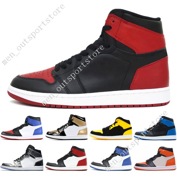 1s OG 1 top 3 mens basketball shoes Homage To Home Banned Bred Toe Chicago Royal Blue Gold Pass The Torch Melo men sports sneakers designer