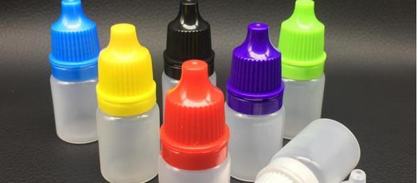 100PCS / LOT 5 ml all'ingrosso di alta qualità occhio gocce la bottiglia Eye drops piccola bottiglia contagocce bottiglie vuote di plastica di 5 ml bottiglia di plastica