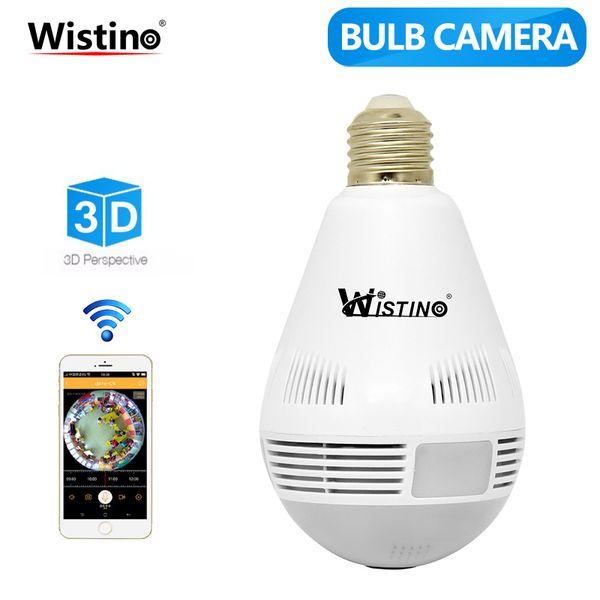 Wistino Wireless IP Camera Bulb Light WiFi 960P VR Panoramica FishEye Lamp Telecamere CCTV Security Home Baby Monitor 360 Gradi P2P