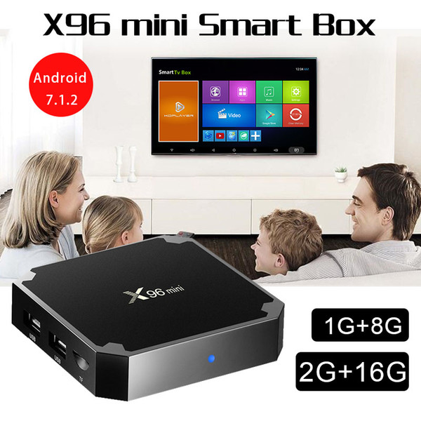 top popular X96 Mini Android 7.1.2 Tv Box Quad Core 1GB 8GB Amlogic S905W 17.6 Smart Media Player Better Mxq Pro 2019