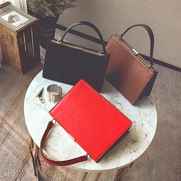 briefcases women business handbag briefcase tote bags handbags leather black laptop ladies OL handbags free shipping