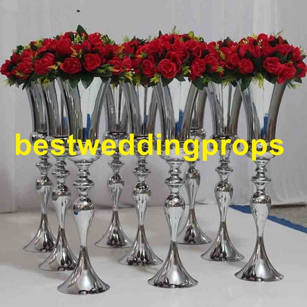 Metal Candle Holders Flower Vase Rack Candle Stick Wedding Table Centerpiece Event Road Lead Candle Stands Best0430 Cars Party Supplies Casino Party
