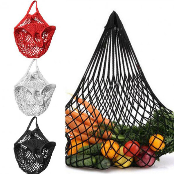 Mesh Sac de magasinage réutilisable String fruits stockage sac à main fourre-tout femmes Shopping Mesh Net tissé sac magasin épicerie fourre-tout sac