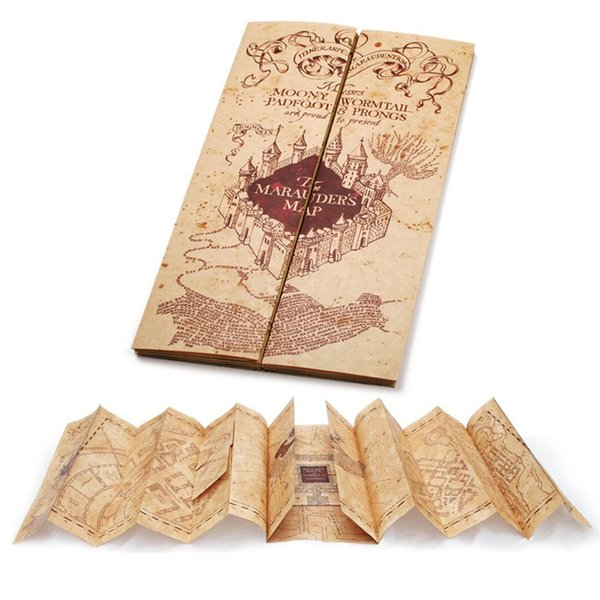 top popular 72*22cm open size the marauder's Map of The Wizarding World of Harry Potter Poster Movie Vintage Paper Collectors Poster Magic Map 2019