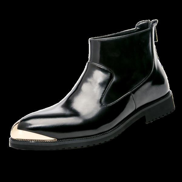 JNNGRIOR De Cuir Chaussures Bout Moto Mode 92 Acheter Haut Cheville Haut Homme Botas Verni De66 Bottes Du En Pointu Hombre Bottes Chaîne Printemps pSGqUVjLzM