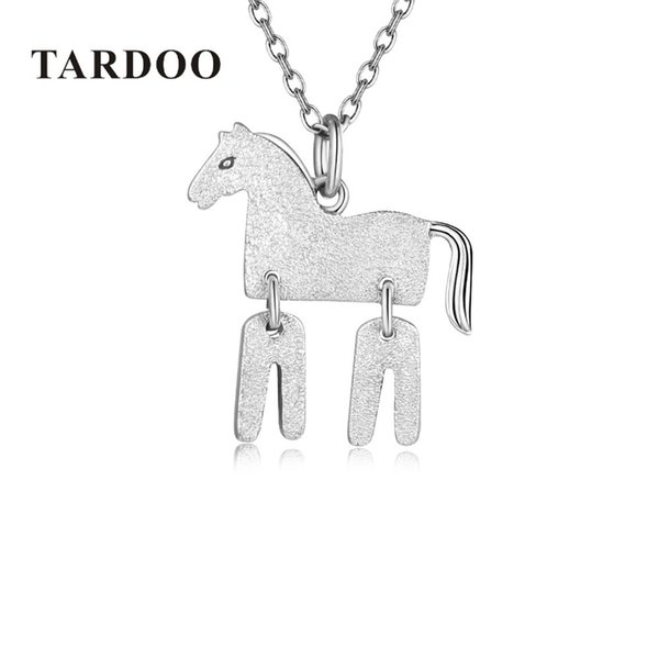 Tardoo Genuine 925 Sterling silver horse Necklace Trendy Women Jewelry Charm Pendant & Chain Animal Lucky silver 925 jewelryY1882803
