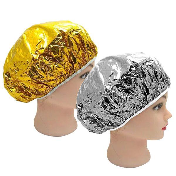 Nuovi tappi impermeabili del di alluminio della stagnola di 1PC cappucci domestici eliminabili portatili della doccia del salone di capelli dei cappelli della doccia Cappucci di cura dei capelli della doccia