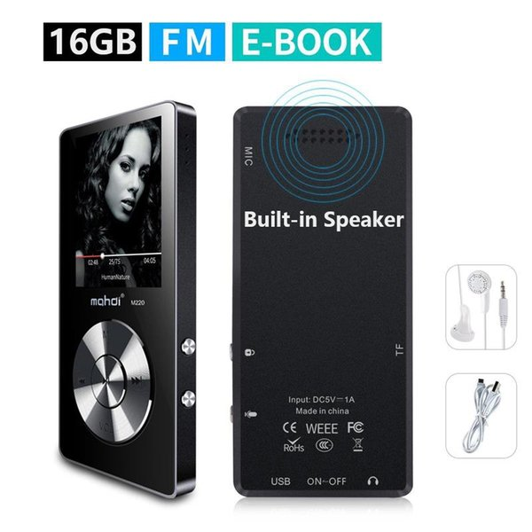 16GB Portable MP3 Player(Expandable Up to 128GB), Music Player/ One-key Voice Recorder/ FM Radio 70 hours playback with speaker
