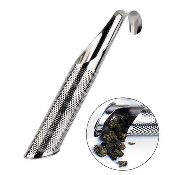New Stainless Steel Tea Infuser Creative Pipe Design Metal Tea Strainer for Mug Fancy Filter for Puer Herb Tea Tools Accessories