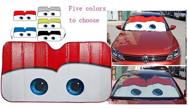 5 Colores Ojos Parabrisas Climatizado Sombrilla Ventana Del Coche Cubierta del Parabrisas Sombra del Sol Auto Visera Del Sol cubiertas del coche